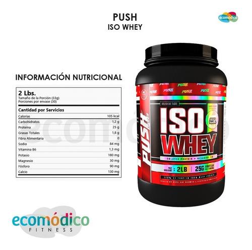 proteina isolate - iso whey protein push energy x 2 lb