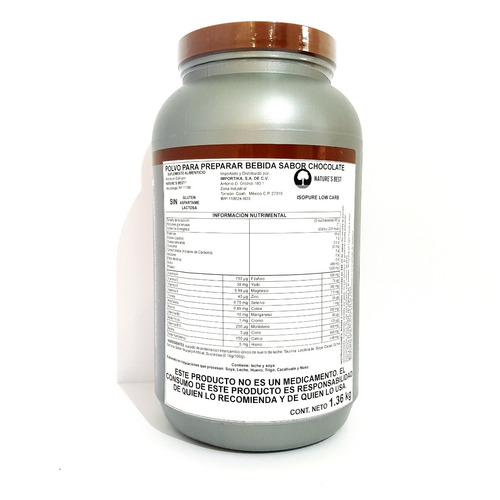 proteina isopure low carbs 3 lbs (21 servs)  sabor chocolate