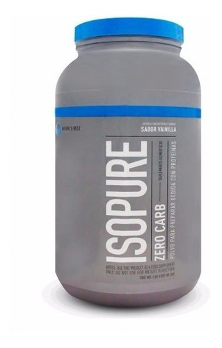 proteina isopure zero carb 3 lbs sabor vainilla