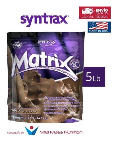 proteina matrix x 5 lbs by syntrax!! envio sin cargo a todo el pais!!