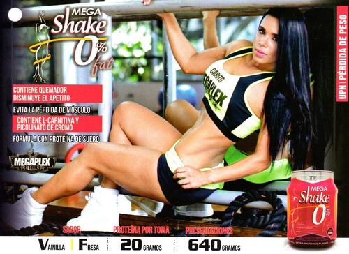 proteina mega shake 1.4 lbs 0% grasa con l-carnitine upn