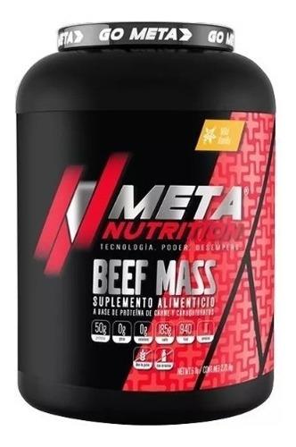 proteina meta nutrition beef mass 6 lbs chocolate suplemento