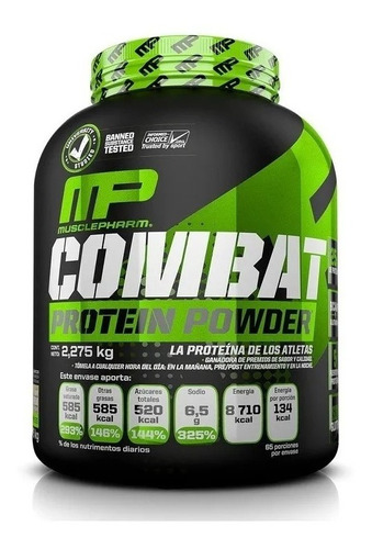 proteína mp combat musclepharm protein powder 2.2kg 5 lbs