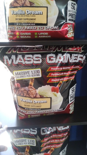 proteina muscle maxx gainer de 12 libras