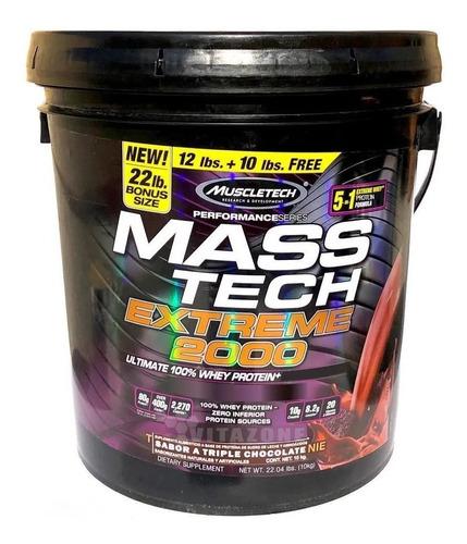 proteína muscle tech mass tech extreme 2000 22 lbs