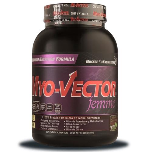 proteina myo vector femme 3 lbs zero carbs sabor fresa