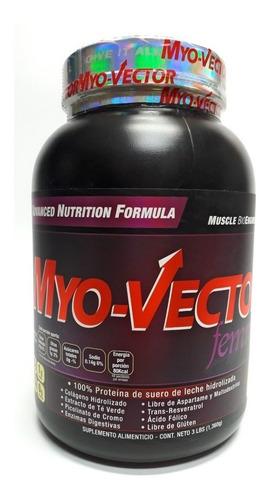 proteina myo vector femme 3 lbs zero  sabor capuchino
