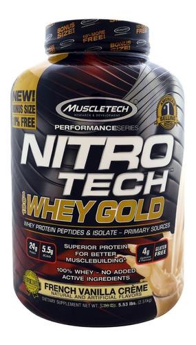 proteina nitro tech whey gold 5,5 lbs