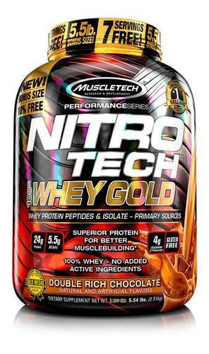 proteína nitrotech whey gold chocolate 5.5lb
