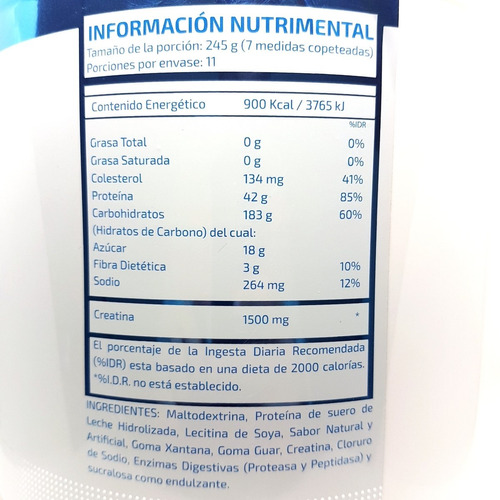 proteina nst heavy mass 6 lb (2.724 kg) mantequilla mani