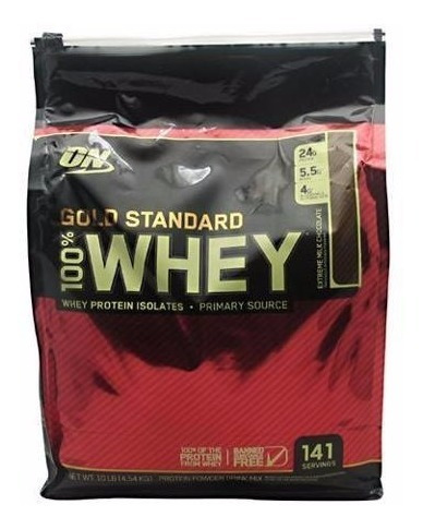 proteina on gold standard 100% whey 10 lbs todos los sabores
