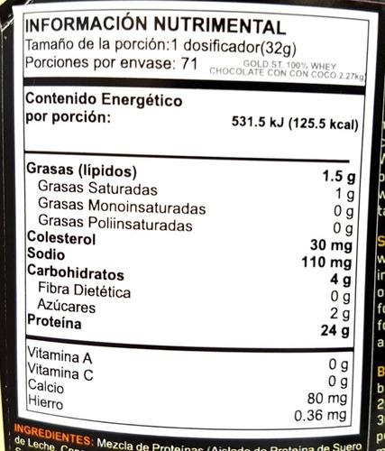 proteina on gold standard 100% whey 5 libras envio gratis