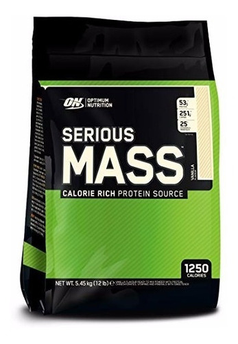 proteina on serious mass 12 lbs envio todos los sabores!