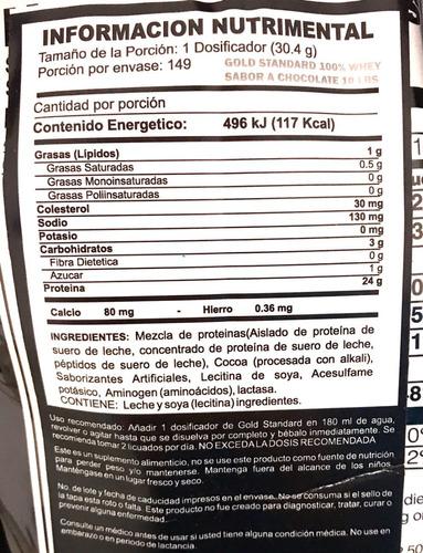 proteina optimum nutrition gold standard 100% whey 10 libras