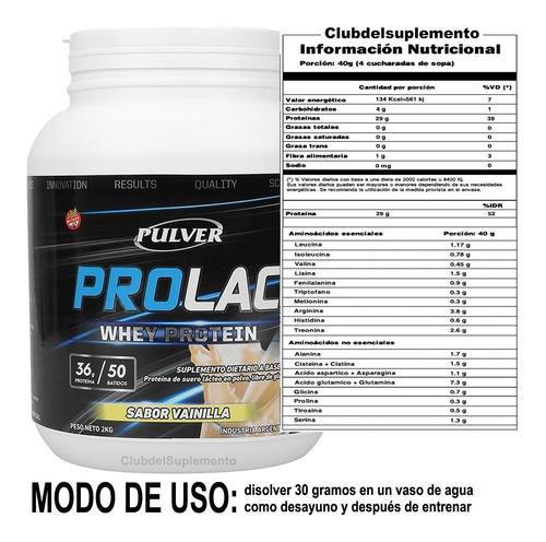 proteina prolac 2 kilos crecimiento muscular definido + vaso