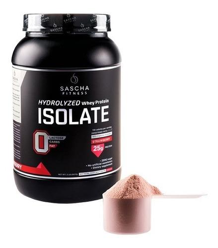 proteína sascha fitness 2 lbs hidrolizada sabor fresa