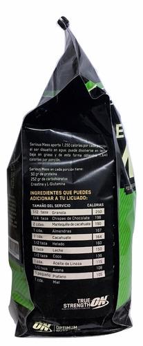 proteina serious mass on 12 lb (16 srvs) sabor fresa