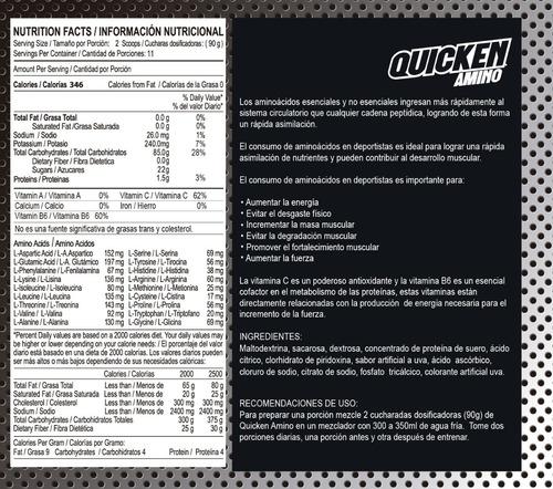proteína suero quicken pro 1400g amino 1013g shaker whey