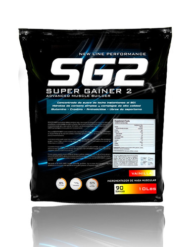 proteina super gainer 2..polo gratis creatina y glutamina