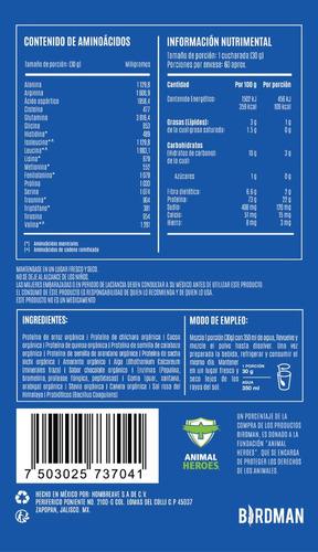 proteína vegana 1.8kg 60 servicios falcon protein birdman