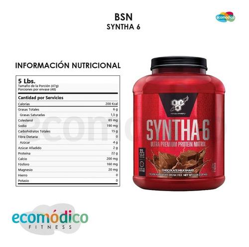proteina whey syntha 6 bsn x 5lb -  importada
