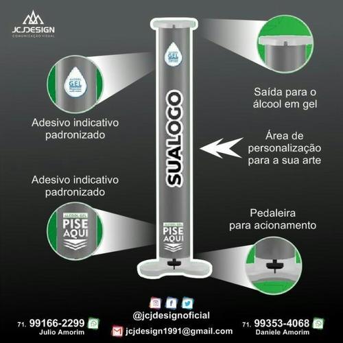 proteja-se com o dispenser de álcool em gel - jcj design