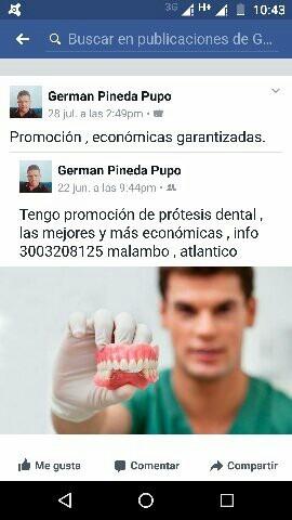 protesis dental desde $100.000 restauracion dental desde $70