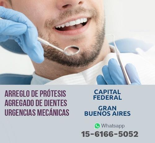 prótesis dentales en el día
