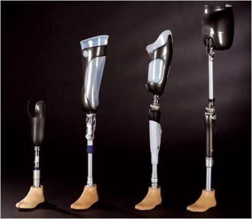 prótesis  fibra carbono pierna ortopedica silicona dedos