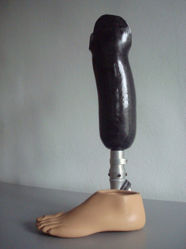 prótesis pierna ortopédica carbono harmony silicona dedos