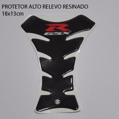 protetor 3d tanque tankpad carbon moto suzuki gsx r 750 srad