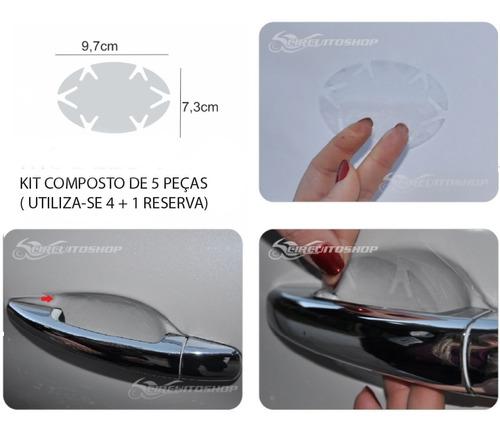 protetor adesivo quina + soleira 3d + maçaneta porta carro