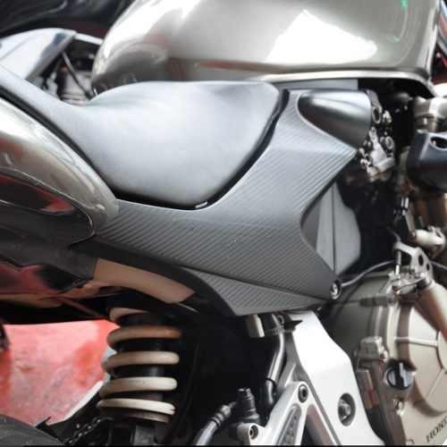 protetor adesivo tampa lateral moto honda cb 600 f hornet
