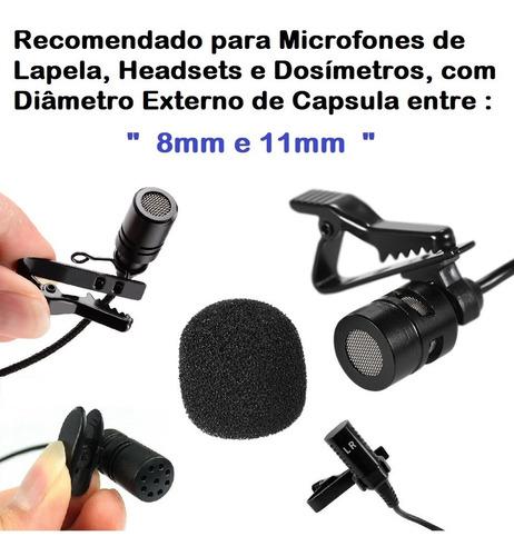 protetor anti ruído espuma para microfone lapela 05 un ref g