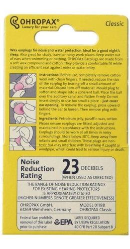 protetor auricular cera ohropax dormir ronco 6 pares
