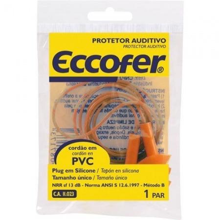 protetor auricular de silicone/pvc eccofer