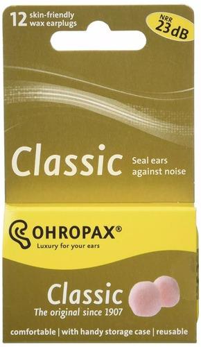 protetor auricular tampão cera ohropax dormir ronco 6 pares