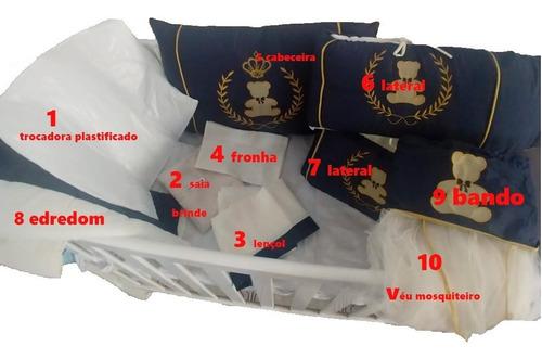 protetor berço kit