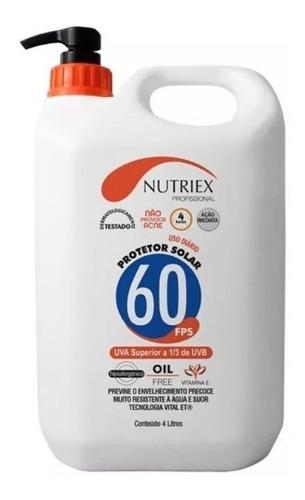 protetor bloqueador solar fps 60 4 litros nutriex resistente