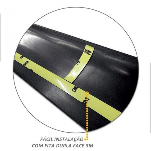 protetor borda da tampa traseira chevrolet s10 2013 á 2017