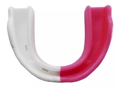 protetor bucal duas cores spank - branco e rosa com estojo