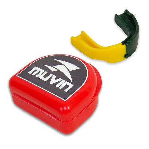 protetor bucal pro dual color - verde/amarelo