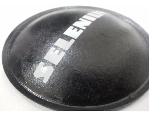 protetor calota p/ alto falante selenium branco 100mm + cola