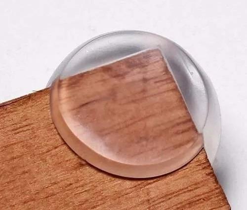 protetor canto quina mesa cama bebê crianca silicone redondo