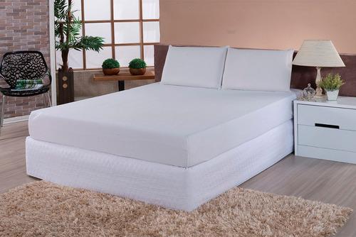 protetor capa de colchão 100% pvc impermeável - casal box