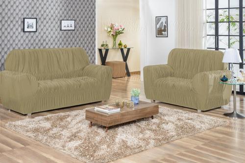 protetor capa de sofá elasticada 21 elásticos malha gel #007