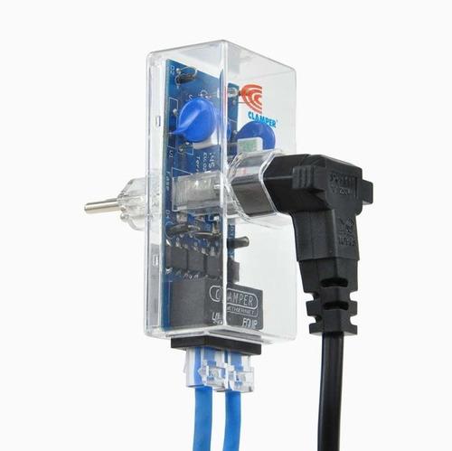 protetor clamper | energia + ethernet