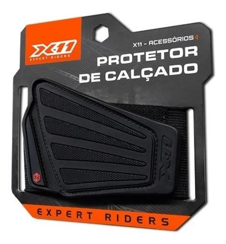 protetor de calçado marcha x11 moto motoqueiro motociclista