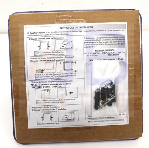 protetor de campainha interruptor tomada dupla area externa