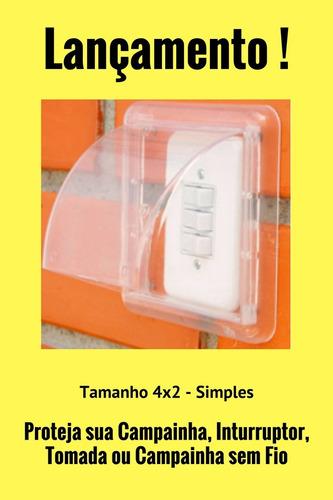 protetor de campainha interruptor tomada simples externa